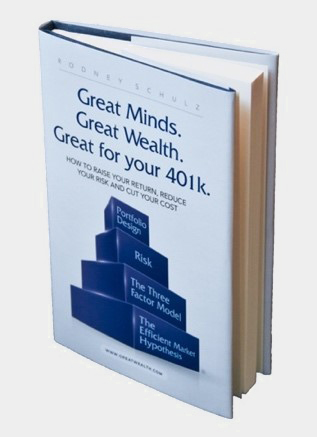 "Book with title ""Great Minds. Great Wealth. Great for your 401k."""