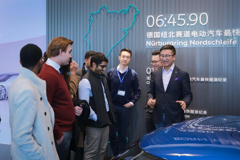 Students see the start-up side of things at electric vehicle company NIO